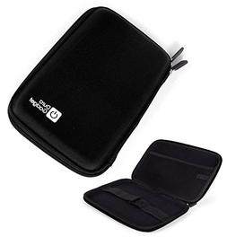 "DURAGADGET ""Tough"" Black Hard Clam Style Case With Soft Felt"